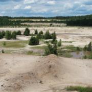 Kleinteilige Landschaft im Norden des Wildnisgebietes Grünhaus