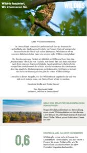 Newsletter der Initiative Wildnis in Deutschland